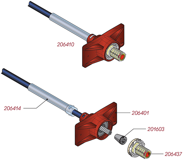 """0.6"""" GTI Zero Void® Spring-Loaded Fixed-End"""