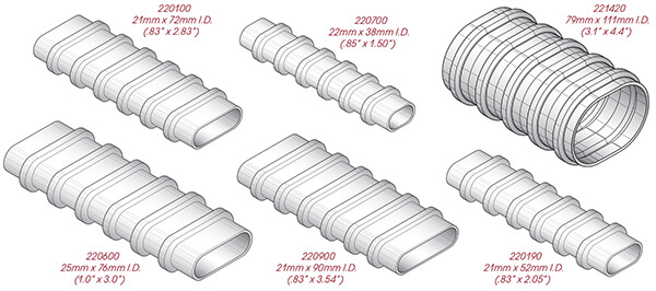 GTI Flat / Oval Corrugated Plastic Duct