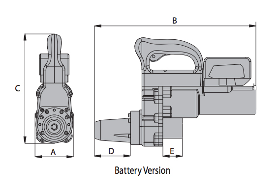 GTI BatteryShear® Dimensions